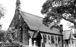 St James Church c.1950, Buxworth