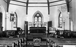 St James Church Interior c.1950, Buxworth