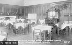 Bwlch, The Oak Panelled Dining Room, Crosfield House, British Legion Country Home c.1950