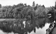 Byfleet, The Canal At Parvis Bridge c.1960