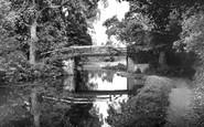 Byfleet, the Canal at Stoop Bridge c1955