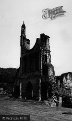 West Front c.1965, Byland Abbey