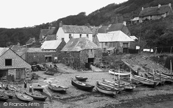 Cadgwith, Boats And Shore 1949