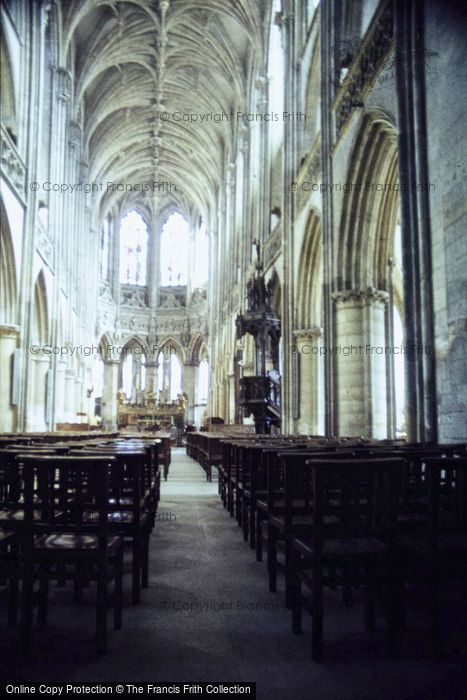 Photo of Caen, St Pierre Cathedral, The Nave 1984