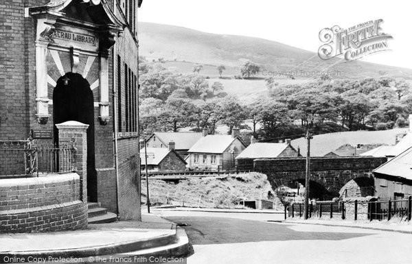 Caerau, Library and Bridge c1955