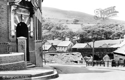 Caerau, Library And Bridge c.1955