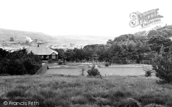 Caerau, Tennis Courts And Pavilion c.1955