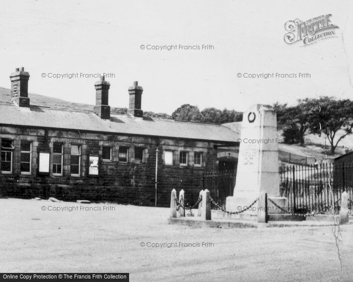 Photo of Caerau, The Memorial And Station c.1955