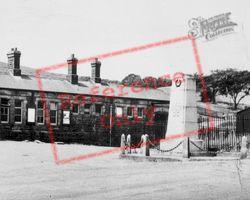 The Memorial And Station c.1955, Caerau