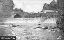 Caergwrle, The Weir c.1955