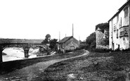 Caerleon, Hanbury Arms and Usk Bridge 1931