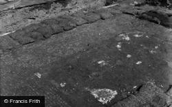 Caerleon, Remains Of A Roman Pavement 1955