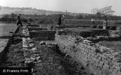 Visitors Exploring The Roman Remains 1955, Caerleon