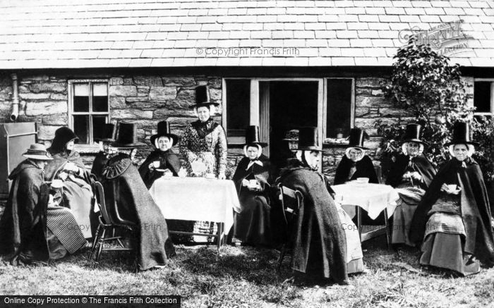 Caernarfon, A Welsh Tea Party c.1900