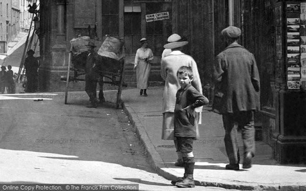 Photo of Caernarfon, Boy In The High Street 1921