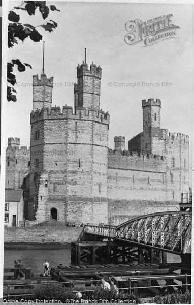 Photo of Caernarfon, Castle And Aber Bridge c.1955