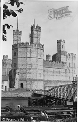 Caernarfon, Castle And Aber Bridge c.1955