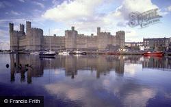 Castle And Afon Seiont c.1990, Caernarfon