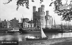 Castle And Slate Quay c.1880, Caernarfon