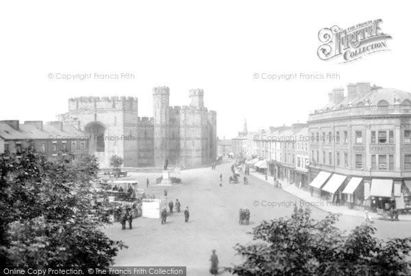 Photo of Caernarfon, Castle And Square 1921