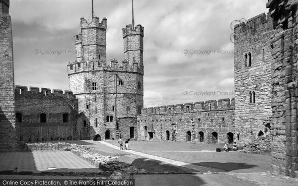 Photo of Caernarfon, Castle, Eagle Tower c.1958