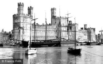 Caernarfon, Castle from the Ferry c1890