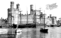 Caernarfon, Castle From The Ferry c.1890