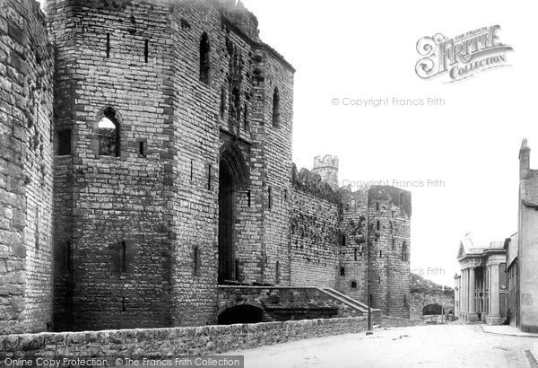 Photo of Caernarfon, Castle, Grand Entrance 1890