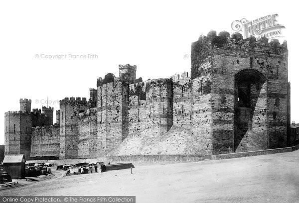 Photo of Caernarfon, Castle, Queens Gate From Quay 1890