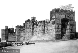 Caernarfon, Castle, Queens Gate From Quay 1890