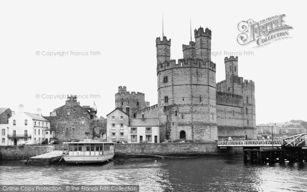 Photo of Caernarfon, Castle, Site Of The Investiture Of Prince Charles c.1955