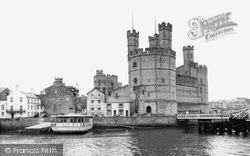 Caernarfon, Castle, Site Of The Investiture Of Prince Charles c.1955