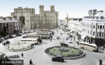 Caernarfon, Castle Square c1955
