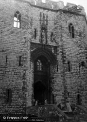 Castle, The Entrance 1952, Caernarfon