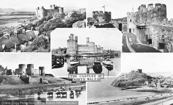 Photo of Caernarfon, Castles Of North Wales Composite c.1960