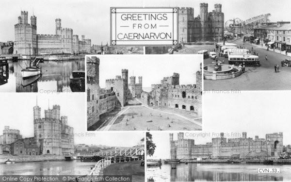 Photo of Caernarfon, Composite c.1955