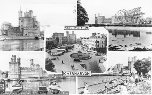 Photo of Caernarfon, Composite c.1960