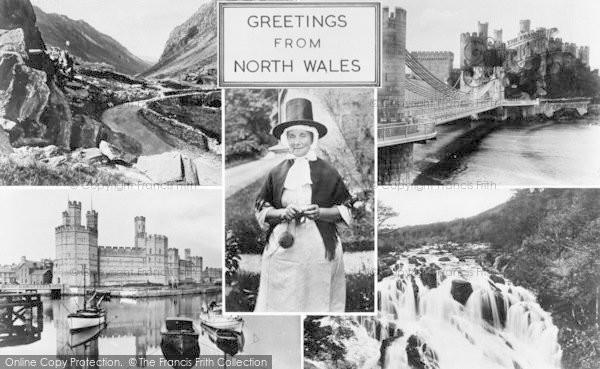 Photo of Caernarfon, North Wales Composite c.1955