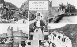 Caernarfon, North Wales Composite c.1955