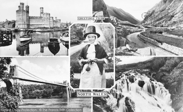 Photo of Caernarfon, North Wales Composite c.1960