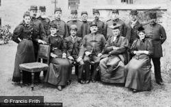 Staff Of The County Gaol c.1892, Caernarfon