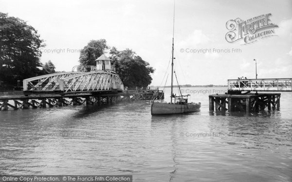Photo of Caernarfon, Swing Bridge  c.1955