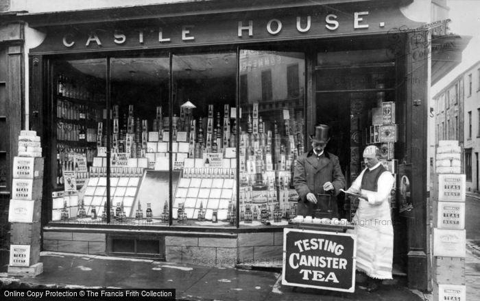Photo of Caernarfon, Tea Tasting, Castle House Grocery Store c.1915