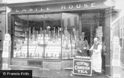 Caernarfon, Tea Tasting, Castle House Grocery Store c.1915