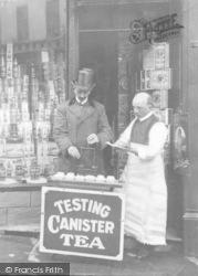 Testing Canister Tea c.1915, Caernarfon