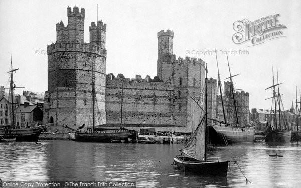 Photo of Caernarfon, The Castle 1890