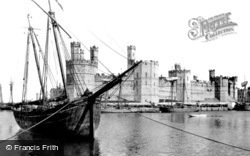 Caernarfon, The Castle 1891