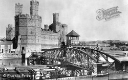 Caernarfon, The Castle And Swing Bridge 1906