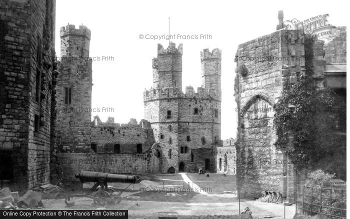 Photo of Caernarfon, The Castle Interior 1890
