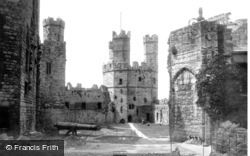 Caernarfon, The Castle Interior 1890